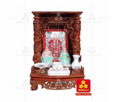 Bàn thờ Thần tài bằng gỗ Cẩm Lai đẹp(Model T.1CL.TOD.6088.008)