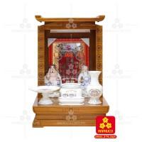 Bàn thờ ông Địa bằng gỗ gỏ đỏ(Model: T-1GD.TOD.4868.003)
