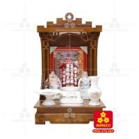 Bàn thờ  Ông Địa gỗ sồi(Model: T-1S.TOD.4868.008)