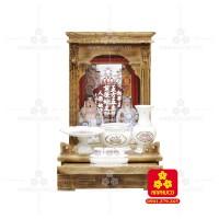 Bàn thờ  Ông Địa gỗ sồi(Model: T.1S.TOD.4268.001)