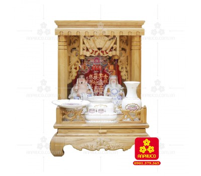 Bàn thờ  Ông Địa gỗ sồi(Model: T.1S.TOD.4868.014)