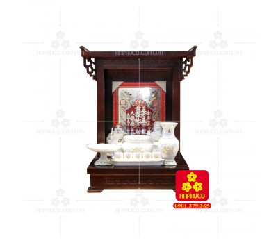 Bàn thờ  Ông Địa gỗ sồi(Model: T.1S.TOD.4868.017)